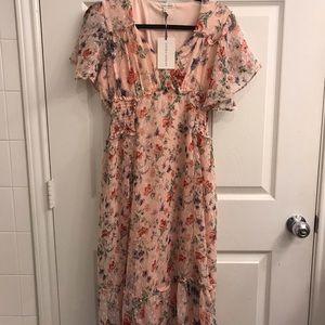 Laura Ashley floral chiffon dress